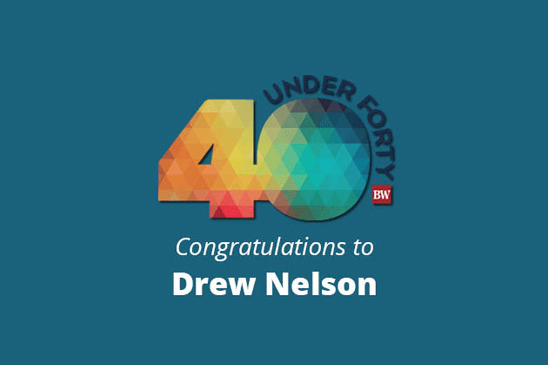 40 under 40 congratulations to Drew Nelson