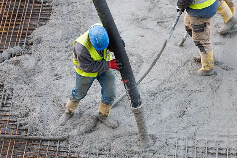 worker finishing concrete